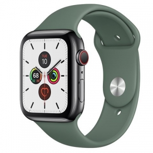 Dây Apple Watch Silicone Pine Green