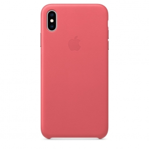 Leather Case iPhone XS/ XS Max Peony Pink OEM
