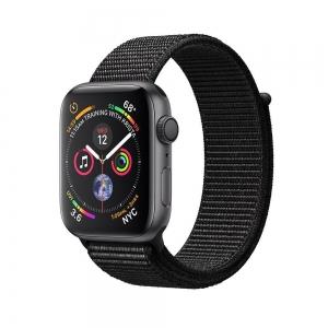 Apple Watch S4 GPS 44MM viền nhôm xám dây Sport Loop đen MU6E2