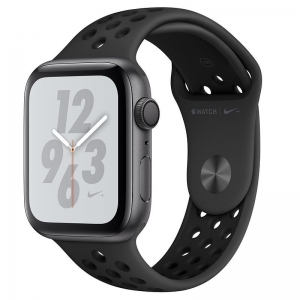 Apple Watch S4 NIKE GPS 44MM viền nhôm xám dây cao su Anthracite/Black MU6L2