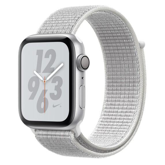 Apple Watch S4 NIKE GPS 44MM viền nhôm bạc dây Sport Loop Summit White MU7H2