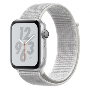 Apple Watch S4 NIKE GPS 44MM viền nhôm bạc dây Sport Loop Summit White MU7H2
