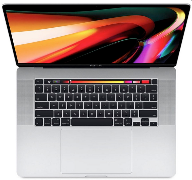 MacBook Pro 16 inch Silver 1TB MVVM2