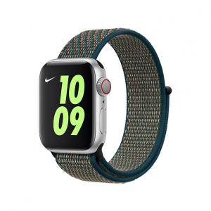 Dây Apple Watch Hyper Crimson/Neptune Green Nike Sport Loop OEM