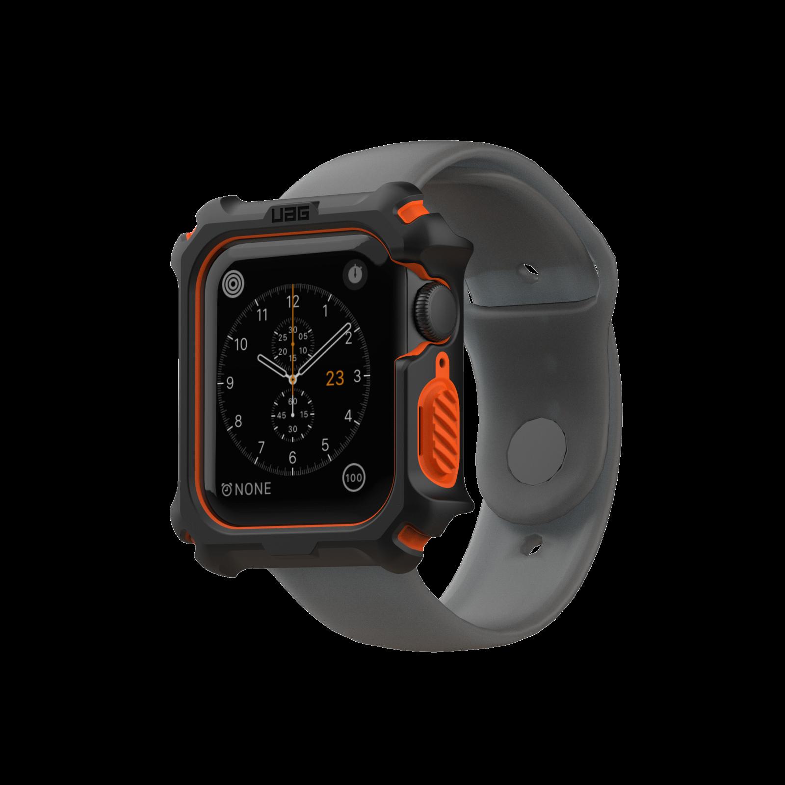Case Apple Watch UAG Black/Orange 44MM OEM