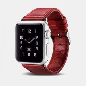 Dây da Apple Watch Vintage iCarer Red chính hãng
