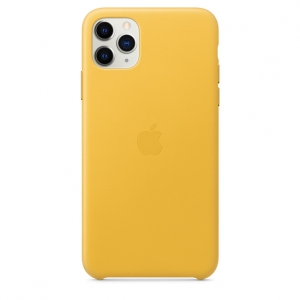 Apple Leather Case iPhone 11 Pro Max Meyer Lemon