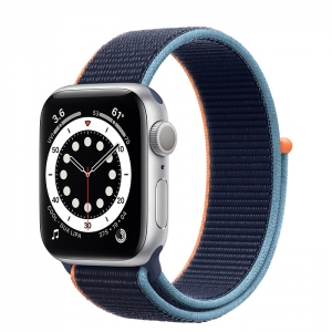 Apple Watch Series 6 Silver Aluminum Case with Sport Loop 40MM
