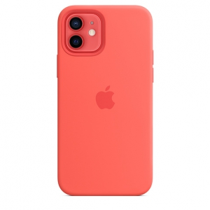 iPhone 12 | 12 Pro Silicone Case Pink Citrus Replica (Without MagSafe)