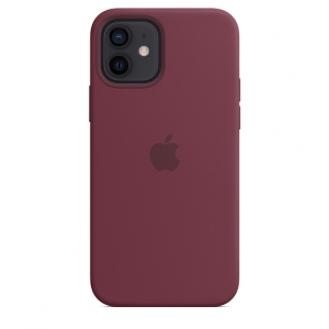 iPhone 12   12 Pro Silicone Case Plum Replica (Without MagSafe)