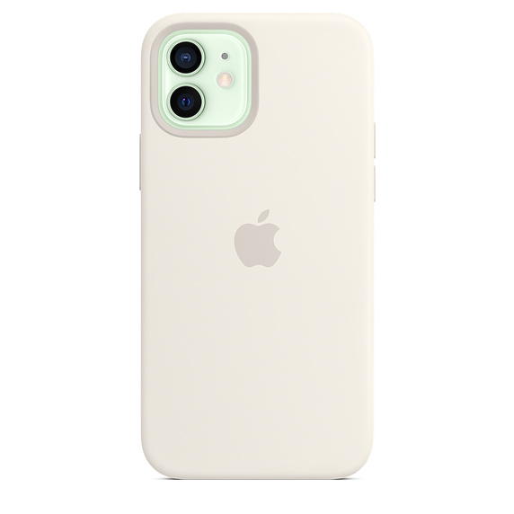 iPhone 12 | 12 Pro Silicone Case White Replica (Without MagSafe)