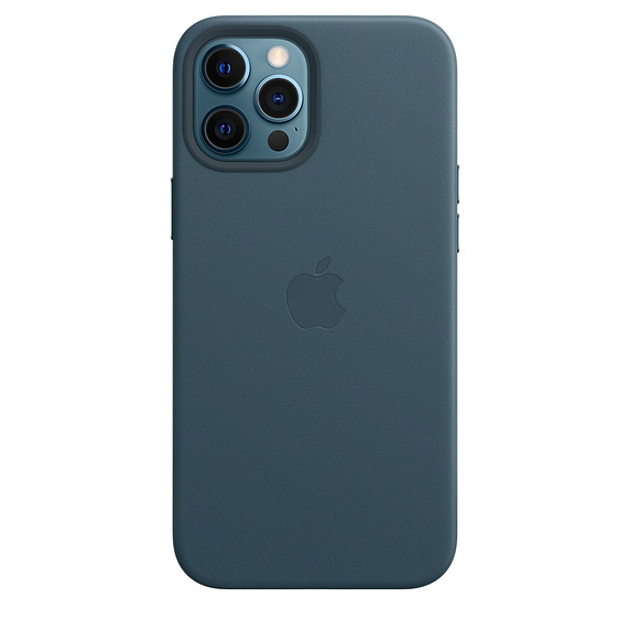 Leather Case iPhone 12 Pro Max Baltic Blue Replica