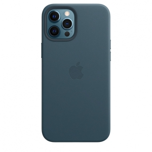 Leather Case iPhone 12 Pro Max Baltic Blue Replica