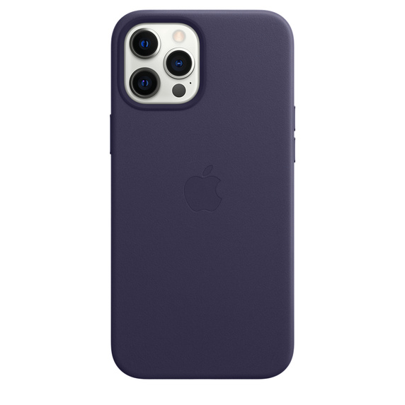 Apple Leather Case with MagSafe iPhone 12 Pro Max Deep Violet