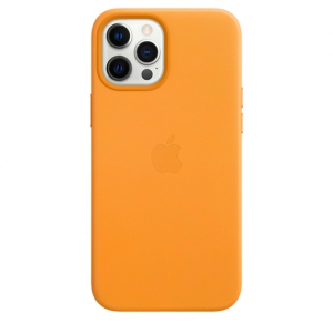Apple Leather Case with MagSafe iPhone 12 Pro Max California Poppy