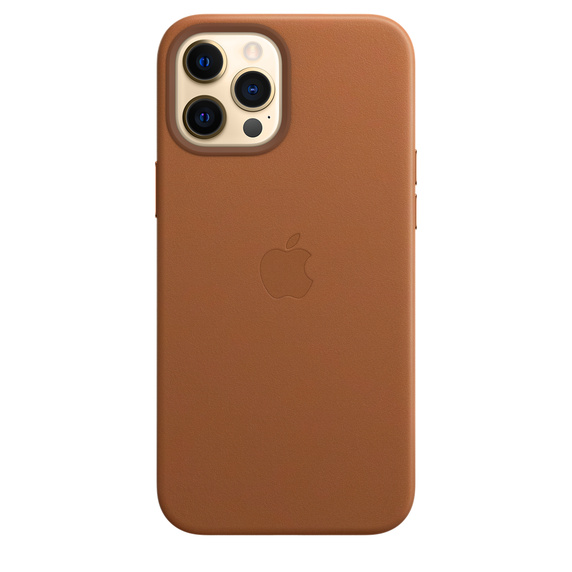 Apple Leather Case with MagSafe iPhone 12 Pro Max Saddle Brown