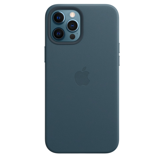 Apple Leather Case with MagSafe iPhone 12 Pro Max Baltic Blue