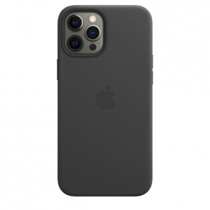 Apple Leather Case with MagSafe iPhone 12 Pro Max Black