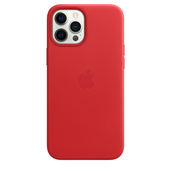 Apple Leather Case with MagSafe iPhone 12 Pro Max (PRODUCT)RED
