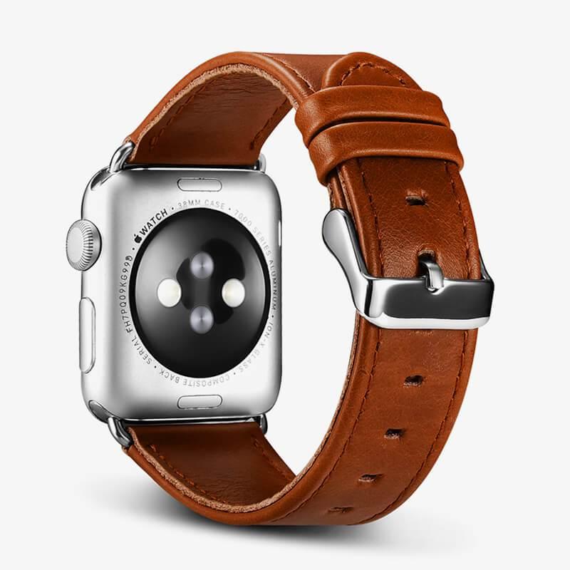 Dây da Apple Watch Vintage iCarer Brown chính hãng