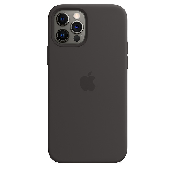 iPhone 12 | 12 Pro Silicone Case Black Replica (Without MagSafe)