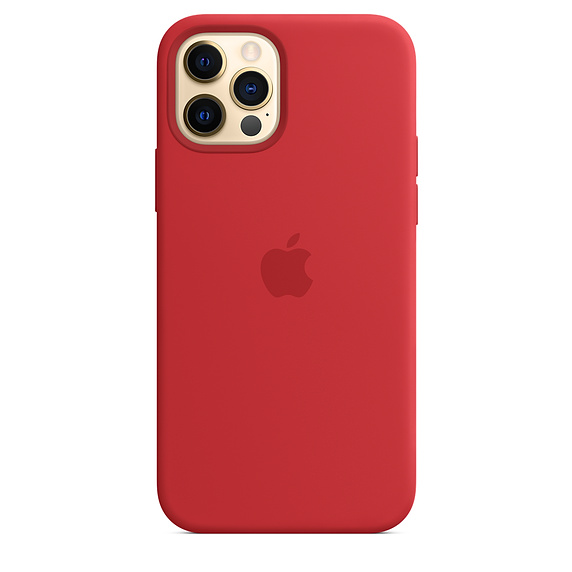 iPhone 12   12 Pro Silicone Case (PRODUCT)RED Replica (Without MagSafe)